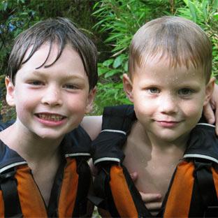 Two boy campers at Highlander
